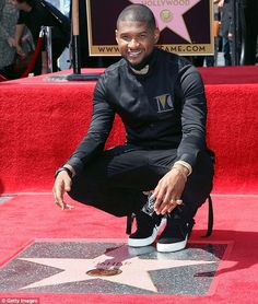 Memorable moment: Usher was honored with a star on the Hollywood Walk Of Fame on…