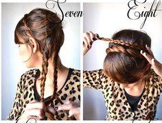 step by step triple braid headband