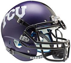 TCU Horned Frogs Authentic Schutt XP Full Size Helmet - Matte