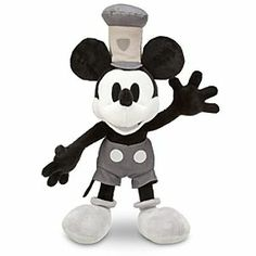 Disney Steamboat Willie Mickey Mouse Plush - 17'' | Disney StoreSteamboat Willie Mickey Mouse Plush - 17'' - Whistle a happy tune all through the day inspired by our Steamboat Willie plush. Mickey's famous first role as mischievous Captain of a silly steamer is fully-realized in this cuddly cartoon charmer.