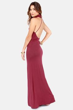fc066acf39 maxi  soft knit - lulus  wine red  dress Wine Red Dress