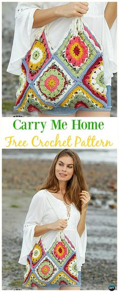 Me Home Granny Bag Free Crochet Pattern - Crochet Handbag Free Patterns In. Carry Me Home Granny Bag Free Crochet Pattern - Crochet Handbag Free Patterns In. Carry Me Home Granny Bag Free Crochet Pattern - Crochet Handbag Free Patterns In. Beau Crochet, Crochet Shell Stitch, Crochet Diy, Crochet Tote, Crochet Handbags, Crochet Purses, Crochet Crafts, Crochet Granny, Bag Patterns To Sew