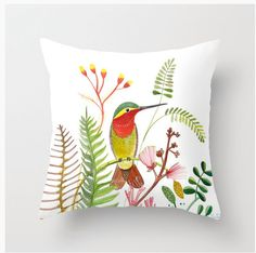 Humming Bird Pillow Cover Throw Print from от sublimecolors