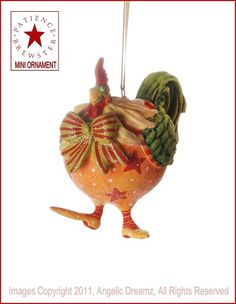 Patience Brewster Krinkles - Donald Rooster Mini Ornament
