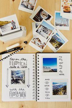 Bergen in Norwegen - DIY Travel Guide & Instax Printer SQ Giveaway Scrapbook Journal, Diy Scrapbook, Scrapbook Albums, Instax Printer, Baby Presents, Photo Album Scrapbooking, Bullet Journal Themes, Travelers Notebook, Photo Book