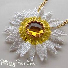 Jew - utrolig smuk - solsikke agtig blomst med gul rivoli - skal laves