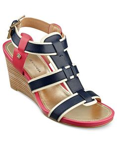 Tommy Hilfiger Shoes, Icon Wedge Sandals - Espadrilles & Wedges - Shoes - Macy's