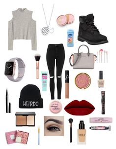 """""""#112"""" by b3ttyw3ldon on Polyvore featuring H&M, Topshop, Timberland, Disney, jane, Marc Jacobs, NARS Cosmetics, MAC Cosmetics, Soap & Paper Factory and Milani"""