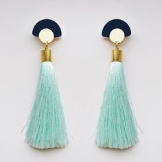 #silk #tassels #earrings #asian #style #suzywandeluxe #mint
