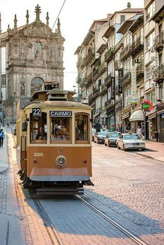 Porto, Portugal - crossing the old districts by tram