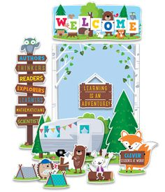 Woodland Friends - Woodland Welcome Bulletin Board Set (CTP7069) #classroom #decor #AILtyler