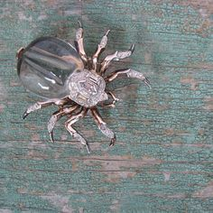 Rare Trifari Pin / 1940s Jelly Belly Spider / by SmallEarthVintage