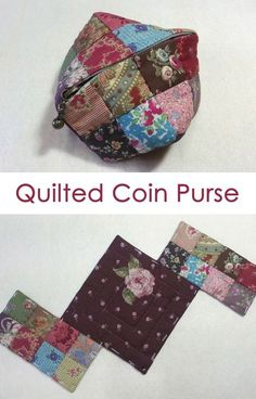 Small Zipper Coin Purse. Quilting and patchwork http://www.handmadiya.com/2015/10/quilted-coin-purse.html