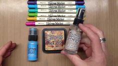 By Tim Holtz. How to use Distress Refresher (previously named Ink Refresher) to rehydrate ink pads, markers, and Distress Paint dabbers.