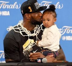 A father first!❤️ Sorry for posting so much I'm just really excited and so glad we finally got to see Zhuri's beautiful face! #zhurijames #princesszhuri #fatherfirst #cavs #kingjames#lebron #lebronjames #lbj #mvp #champions #nbafinals #nba #cavaliers #cleveland #basketball #finals #nbafinals #game7