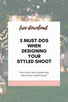 The number one reason for a bad styled shoot is not taking the time to thoroughly plan it. Pre-planning is essential for a successful styled shoot. Here are five things you must do when preparing for styled shoots. | successful wedding business, wedding business success, wedding planner services | Engaged Wedding Planner Academy | #weddingbiz #weddingplanner #styledshoot