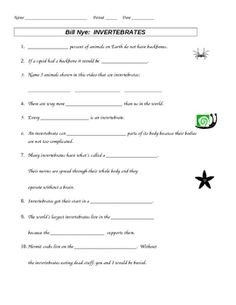 vertebrates and invertebrates worksheets pdf vertebrates invertebrates pinterest. Black Bedroom Furniture Sets. Home Design Ideas