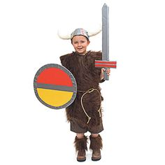 A two-fer! Gabriel's Halloween costume -- a Viking -- and then All Saints Day as St. Olaf.