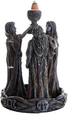 Mother Maiden Crone Backflow Incense Burner