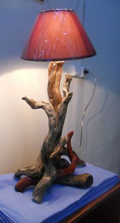 Abajur de tronco