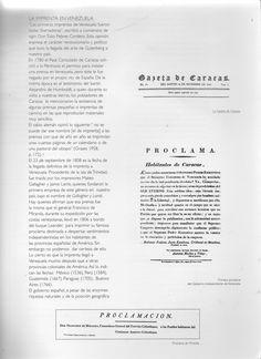 (4) La Gazeta de Caracas / Primera proclama del Gobierno Independiente de Venezuela / Proclama de Miranda