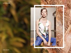 Stories Collective / Flower Market / Photography Vanessa Diskin / Styling Gabriela Splendore & Mariana Lourenço / Make up & Hair Bruno Cardoso / Model Maria Golob at Joy / Design Lily Dunlop #fashion #editorial #plants #layout #design