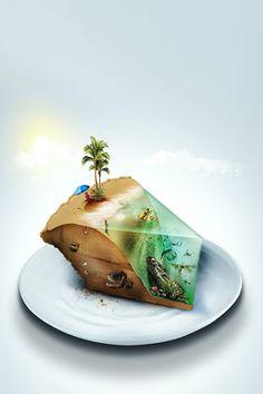 Slice of Beach iPhone Wallpaper
