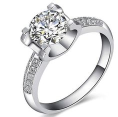 2 Ct. Round Cut VVS2/G Simulated Diamond Engagement Ring by aptE