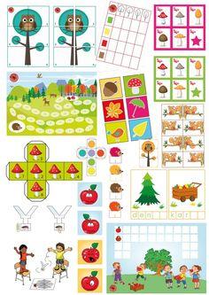 Spellenpakket herfst met 9 spellen met gevarieerd doelenaanbod voor kleuters, juf Petra van kleuteridee