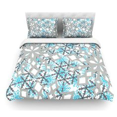 East Urban Home Chilly by Miranda Mol Featherweight Duvet Cover Size: Full/Queen, Fabric: Woven Polyester