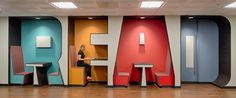 """""""READ"""" break room at RetailMeNot office // Austin, TX // by STG Design"""