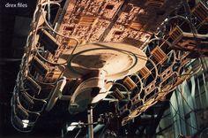 USS Enterprise B and dry dock studio models for Star Trek: Generations