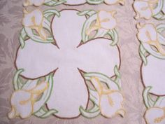 Cutwork Calla Lily Doily Vintage 4 Available by FabVintageEstates, $5.00
