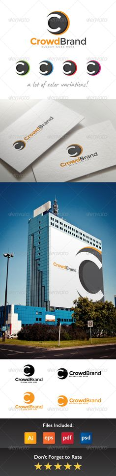 Crowd Brand Letter C Logo