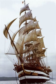 There's a part of me that wants to work on a tall ship and see the world like that.