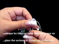 Frivolite-Tatting Lesson 60 - Añadir hilo-adding threads - CUANDO SE ACABAN LOS HILOS