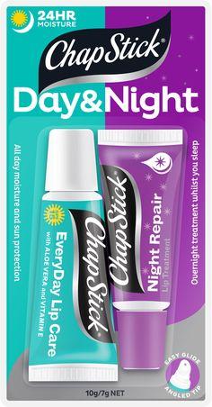 Chapstick Day & Night: http://thefashioncatalyst.com/site/2013/06/chapstick-day-night/