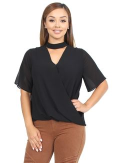 de8944434b5f79 Bellarte Clothing · Products · Linda Surplice Neck Band Top