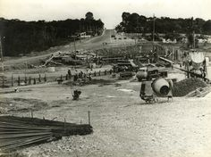 Obras de construção da avenida Djalma Batista, 1977. Acervo: Arquivo Público Municipal de Manaus.