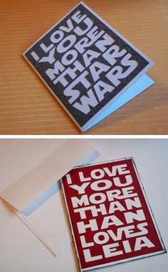 #starwars love notes. I don't think it's possible for guys to love a girl more than Star Wars!  Haha