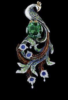 Jewellery Theatre FAIRY TALES PENDANT Ref: J*4a101WBF138 18K White Gold  3 briolete diamonds 0,33 ct 338 diamonds 1,42 ct 478 blue sapphires 4,08 ct 367 pink sapphires 2,10 ct 1 tourmaline 19,56 ct
