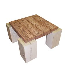 """This table is made from antique heart pine. The table top measures 3"""" thick x…"""