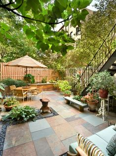 Great use of space for a small backyard