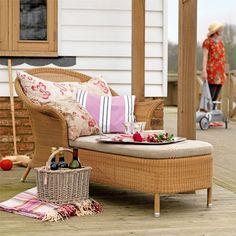 Garten Terrasse Wohnideen Möbel Dekoration Decoration Living Idea Interiors home garden - Rosa Garten Chaise