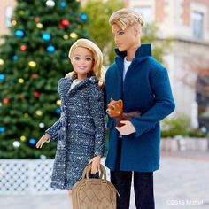 Enjoying the holiday spirit in our city! #barbie #barbiestyle