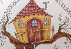 ROMANTIC COUNTRY - color a treehouse - tutorial part 2