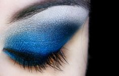 Royal blue - using Covergirl makeup.totally something I would do. :)