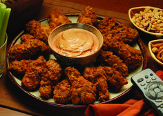 Moisten wings with water. Shake off excess moisture. Coat wings with House-Autry Medium Hot Breader. Deep-fry at for minutes or until done. Set aside. Toss wings in House-Autry Bold & Zesty Dippin' Sauce until coated. Weight Loss Smoothies, Healthy Smoothies, Smoothie Recipes, Wing Recipes, Easy Recipes, Easy Meals, Yummy Chicken Recipes, Yum Yum Chicken, Wings And Ribs
