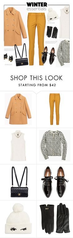 """""""Pea Coat and Skinny Pants'"""" by dianefantasy ❤ liked on Polyvore featuring Max&Co., Raoul, Bobeau, J.Crew, Chanel, Kate Spade, Ted Baker, Betsey Johnson, Winter and polyvorecommunity"""