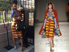 Rihanna wearing Stella Jean